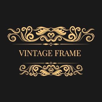 Vintage goldenen Rahmen