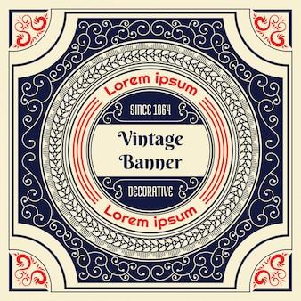 Vintage Hintergrund Design