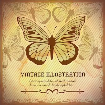 Vintage Hintergrund mit Schmetterling