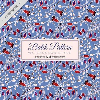 Vintage-Muster von Blumen in Batikart
