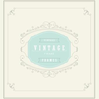 Vintage Ornament Grußkarte Vektor-Illustration. Vintage Hintergrund. Vintager Rahmen