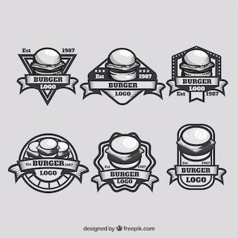 Vintage Pack von Burger Logos