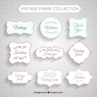 Vintage-Rahmen Sammlung