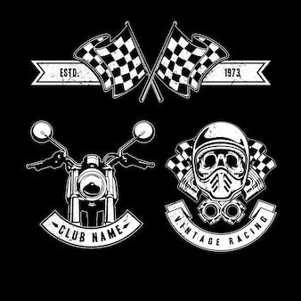 Vintage Rennsport-Elemente