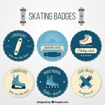 Vintage-Skating-Abzeichen