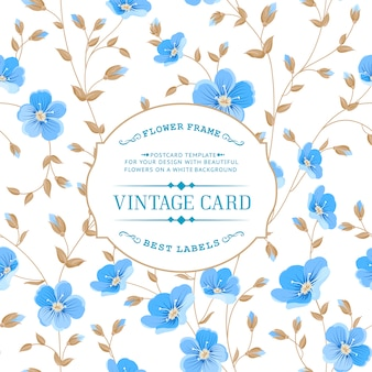 Vintage-Stil blauen Blumenhintergrund