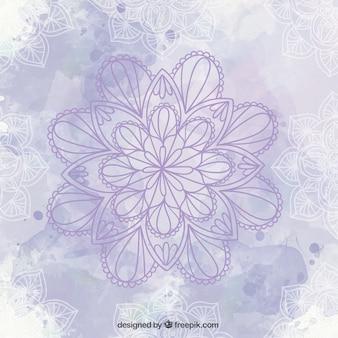 Violet Mandala-Hintergrund