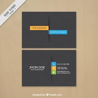 Visitenkarte Fotografie, minimalen Stil