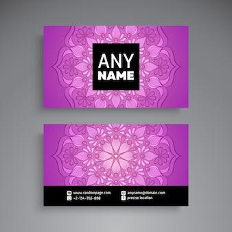 Visitenkarte. Vintage dekorative Elemente. Dekorative Blumen-Visitenkarten oder Einladung mit Mandala