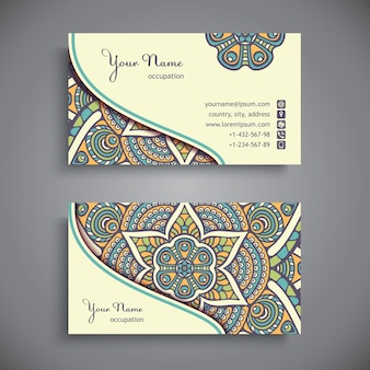 Visitenkarte. Vintage dekorative Elemente.