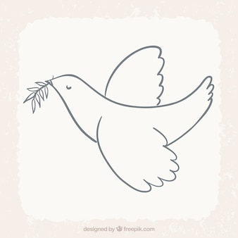 Vogel fliegen mit Lorbeerblatt