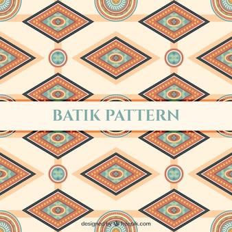Von Batik-Muster geometrischen Formen