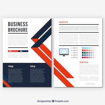 Vorlage der Business-Broschüre mit orange Details