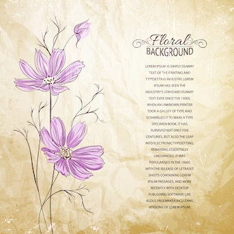 Vorlage mit violetten Blüten