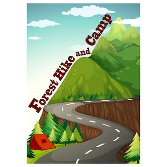 Wald-Hintergrund-Design