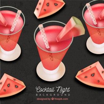 Wassermelone Cocktail Hintergrund