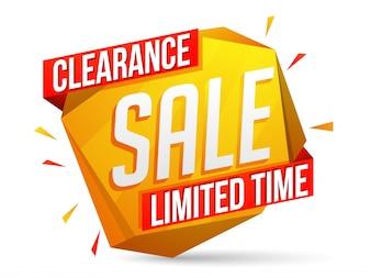 Web-Banner oder Verkauf Poster-Design mit Ausverkauf für begrenzte Zeit Angebot,