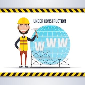 Web im Bau Hintergrund