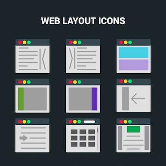 Web-Layout Computer-Bildschirm-Symbol