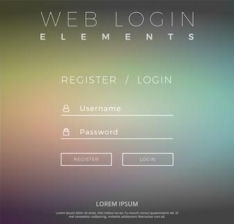 Web-Login mit Farbverlauf Design