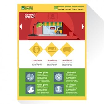 Web-Vorlage für E-Commerce