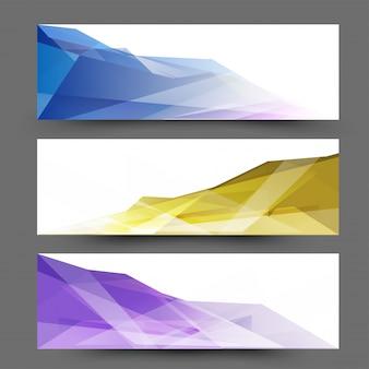 Website-Header oder Banner mit abstrakten Design.