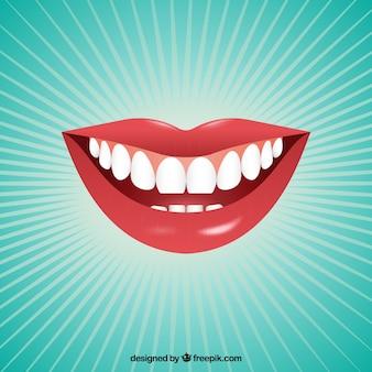 Weibliche Mund