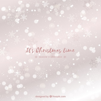 Weihnachten Bokeh Hintergrund mit Schneeflocken