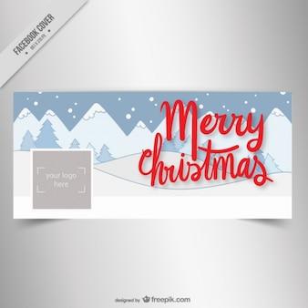 Weihnachten facebook Abdeckung mit verschneite Landschaft