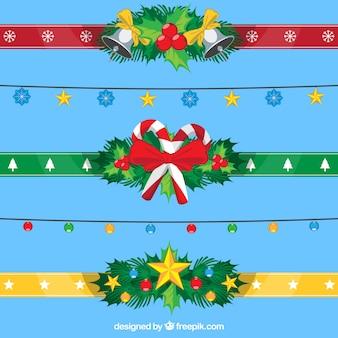 Weihnachten farbige Bänder packen