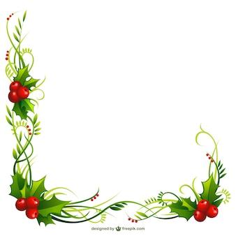 Weihnachten Holly Rahmen