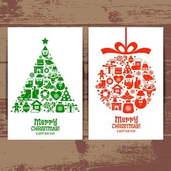 Weihnachten Illustration Vector Reihe von Vektor-Set Icons