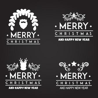 Weihnachten Typografie Logo Designs
