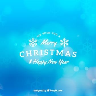 Weihnachten unscharfen blauen Hintergrund