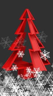 Weihnachtsbaum mit Winter-Hintergrund