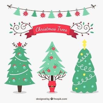 Weihnachtsbäume packen