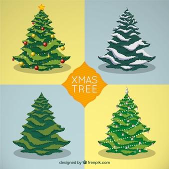 Weihnachtsbäume Sammlung