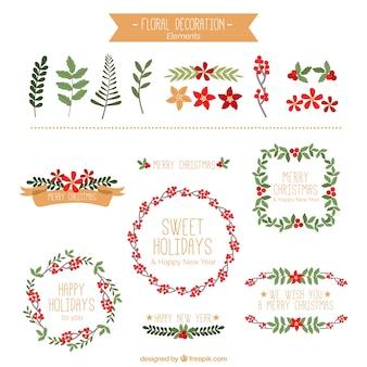 Weihnachtsblumendekoration Sammlung