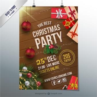 Weihnachtsfeier CMYK Flyer