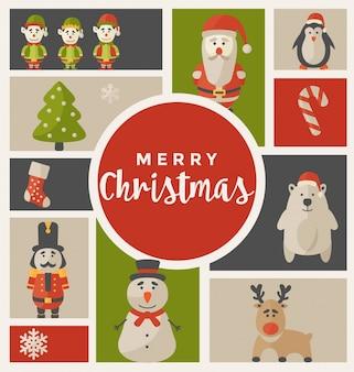 Weihnachtsgruß-Kartendesign