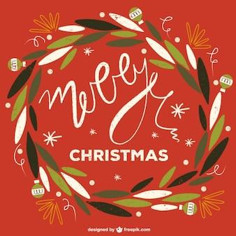 Weihnachtskarte in Hand gezeichnet Stil