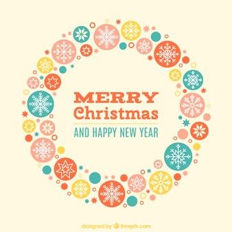 Weihnachtskarte von Weihnachtskugeln gemacht