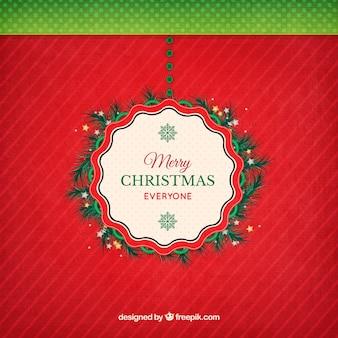Weihnachtskranz mit einem dekorativen Stempel