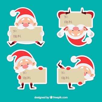 Weihnachtsmann-Zeichen-Etiketten