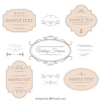 Weinlese-Abzeichen und Ornamente Sammlung