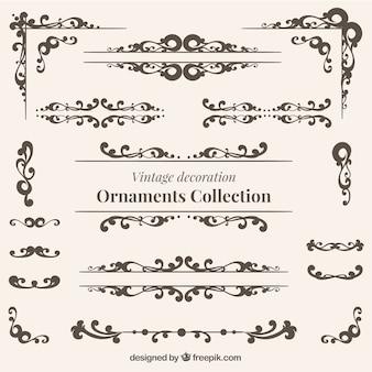 Weinlese-Dekoration Ornamente Sammlung