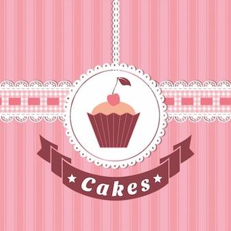 Weinlese-Kuchen Hintergrund