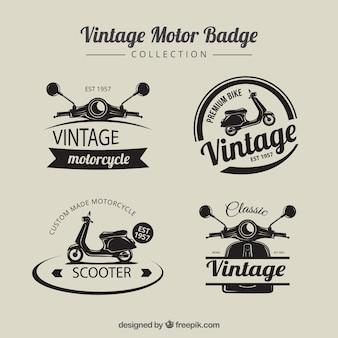 Weinlese-Motorrad-Abzeichen