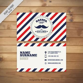 Weinlese-Schnurrbart Friseurladen Karte
