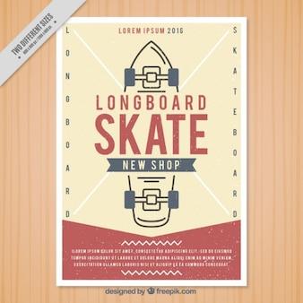 Weinlese-Skateboard-Flyer